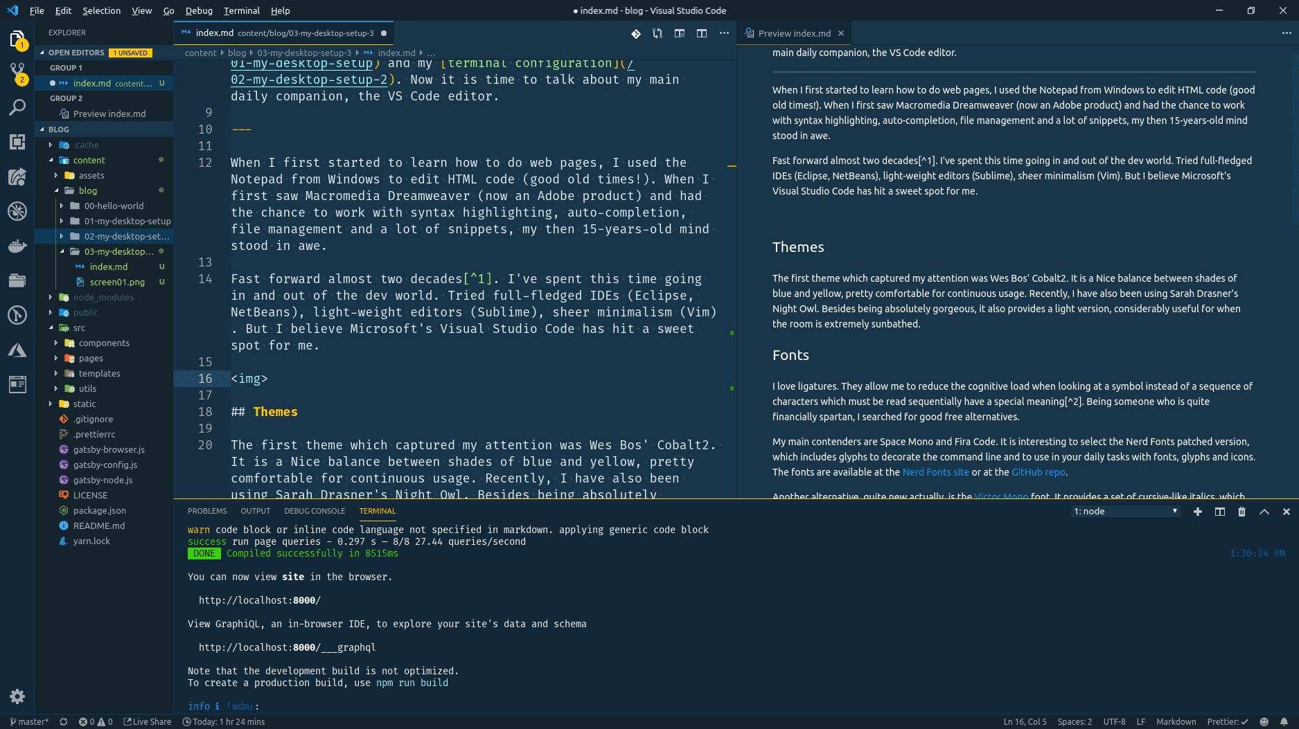 My desktop setup - Part 3: The VS Code | Manoel's Dev Blog